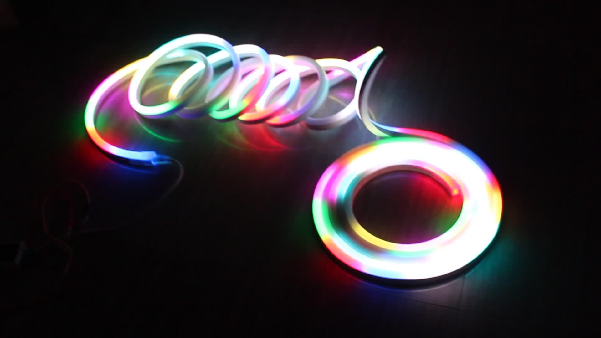 DMX 512 Control SPI Mix Colors Digital RGB LED Neon Flex