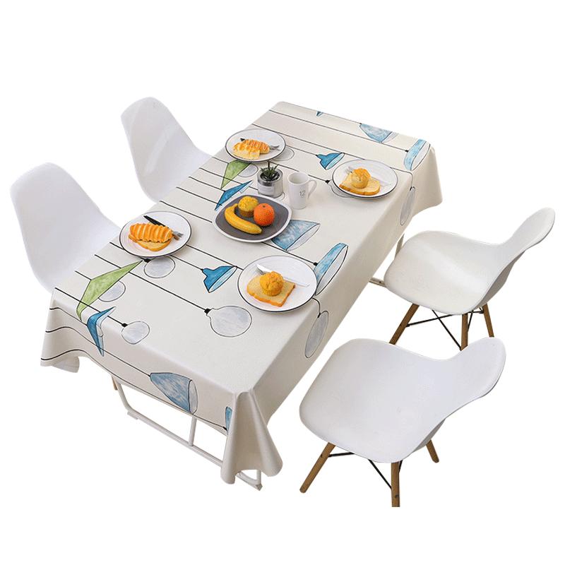 桌布防水防油免洗防烫布艺桌布书桌