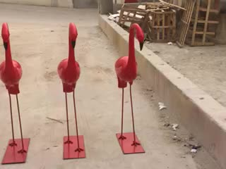 Outdoor Home Garden Decor China Suppliers Fiberglass Resin Bird Flamingo Sculpture