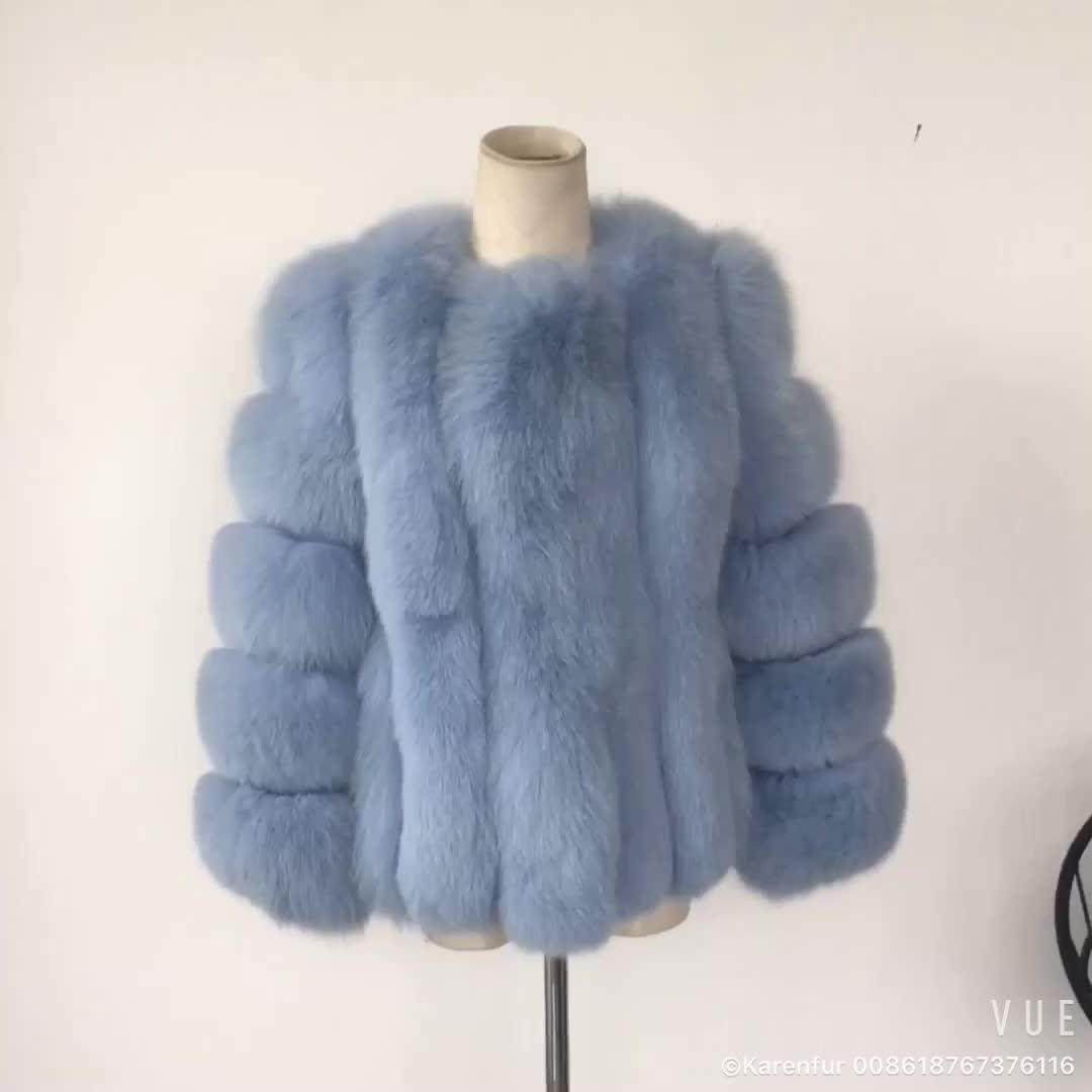 Factory Price New Arrival Italian Natural Fox Fur Coat Ladies 2018 Winter Coats