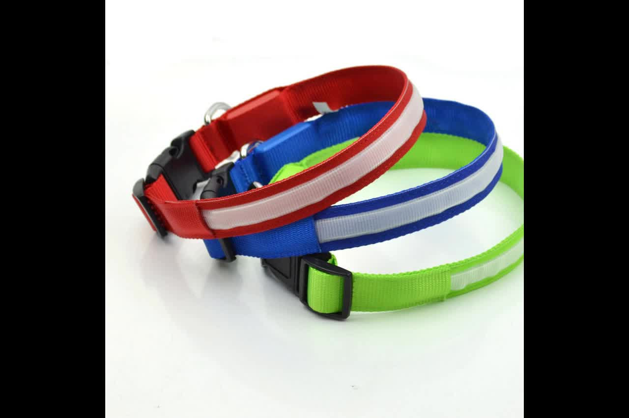 LED Dog Collar Night Safety LED Flashing Glow LED Pet Supplies Dog Collar