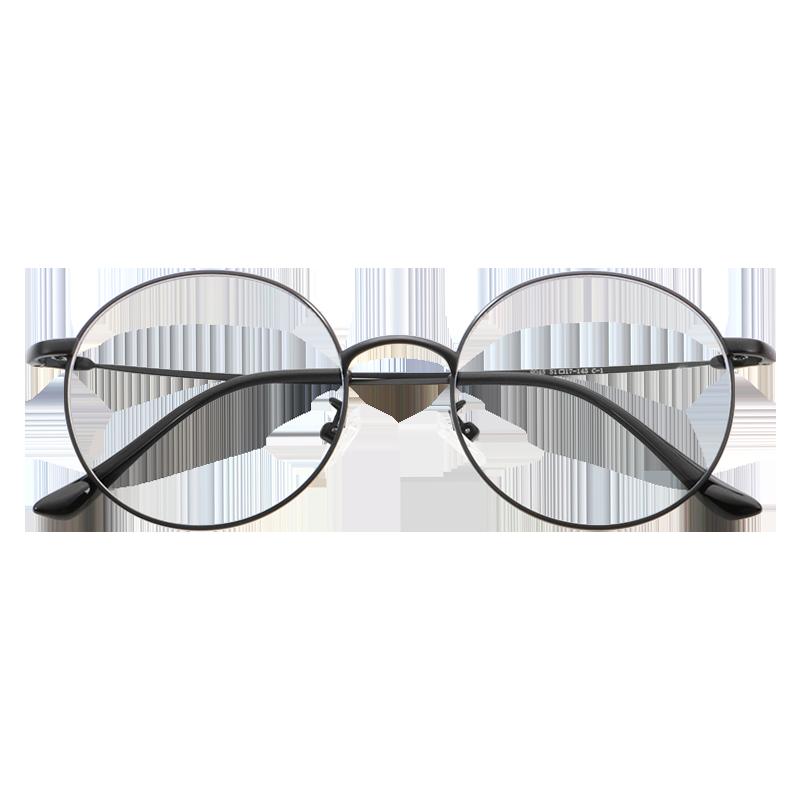 防辐射抗蓝光眼镜女可配有度数看手机护眼平光镜圆框眼睛近视男潮