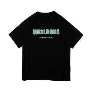 黑色女2021年夏新款宽松韩版潮t恤