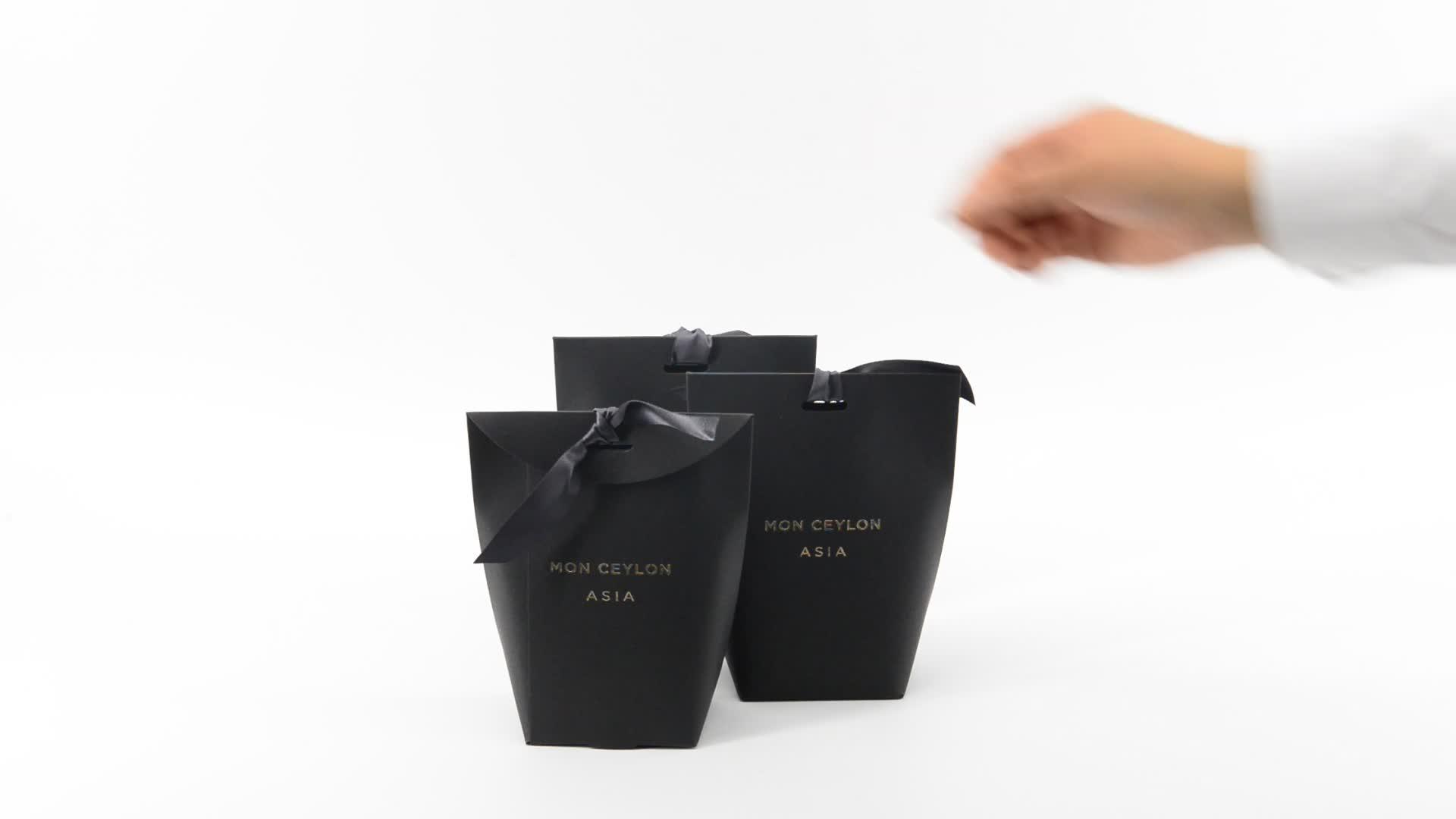 Merci Small 종이 포장 Tie 상자 호의 웨딩 Candy Gift box