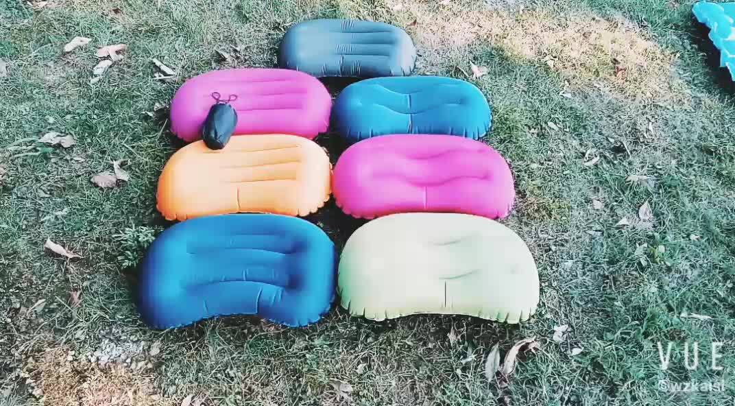 High Quality Outdoor Light Inflatable Camping Air Travel Neck Pillow