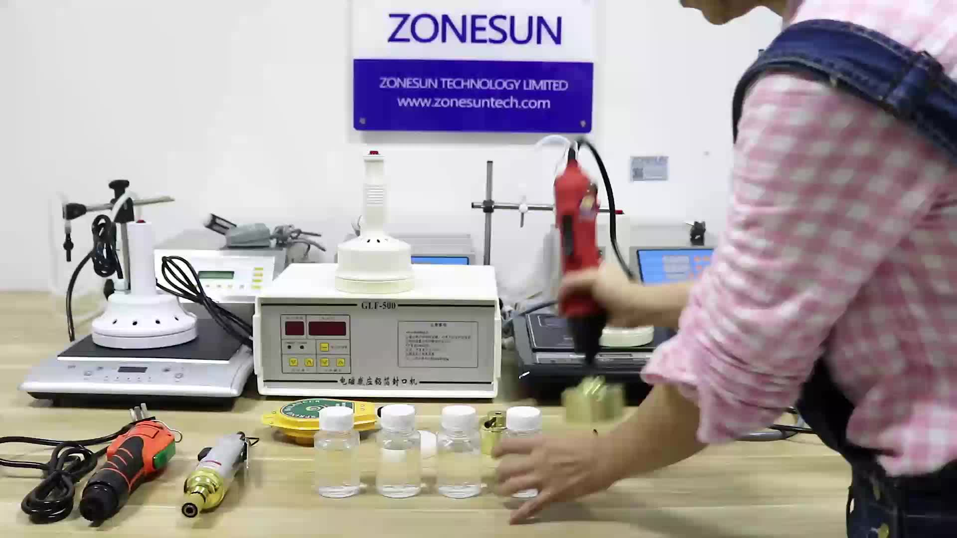 ZONESUN SG-1550 Portable automatic electric bottle capping machine Cap screwing Machine electric cap sealing machine