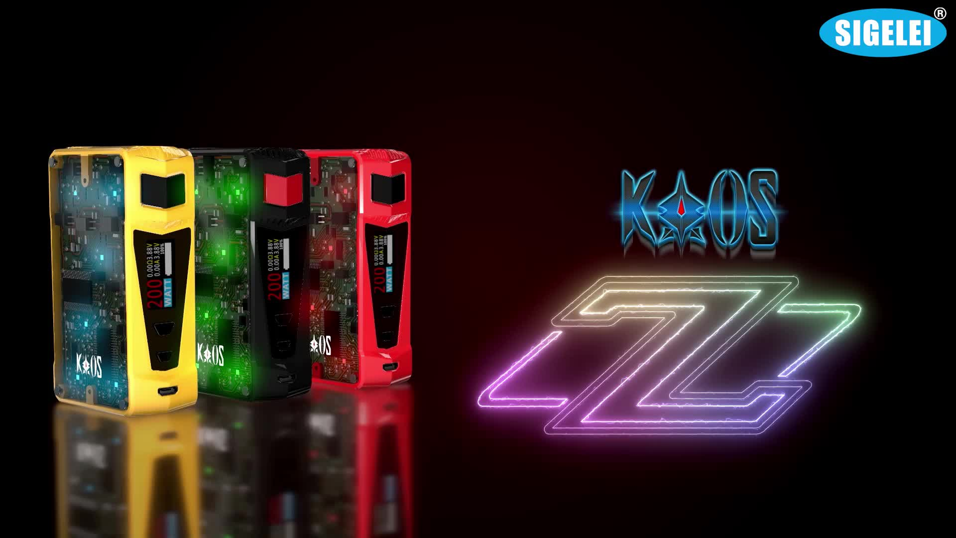 Authentic Sigelei Kaos Z Ucige With sigelei health care products vaping device from China biggest ecig Sigelei Kaos Z