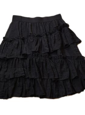 层层蛋糕裙2021新款夏高腰a字短裙蓬蓬裙显瘦荷叶边不规则半身裙