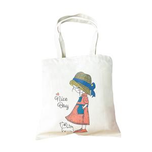 琢爱帆布袋定制图案logo定女单肩包