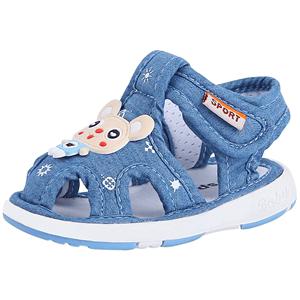 男宝宝凉鞋带响婴儿叫叫鞋女会响小童春夏学步鞋儿童软底防滑鞋子