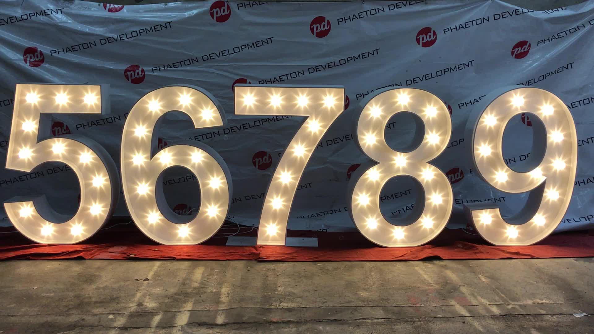 אור עד marquee מספר עבור מסיבת יום הולדת/חגיגה, marquee מספרים