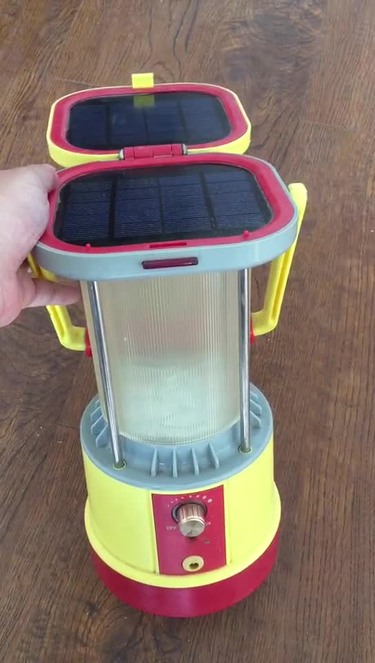 Solar led camping lantern with phone charge function