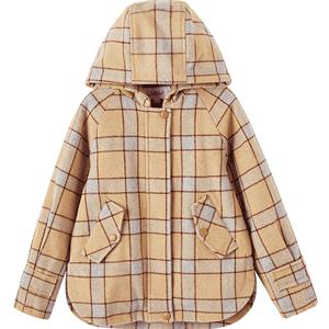 笛莎女童上衣冬季新款中大童呢大衣