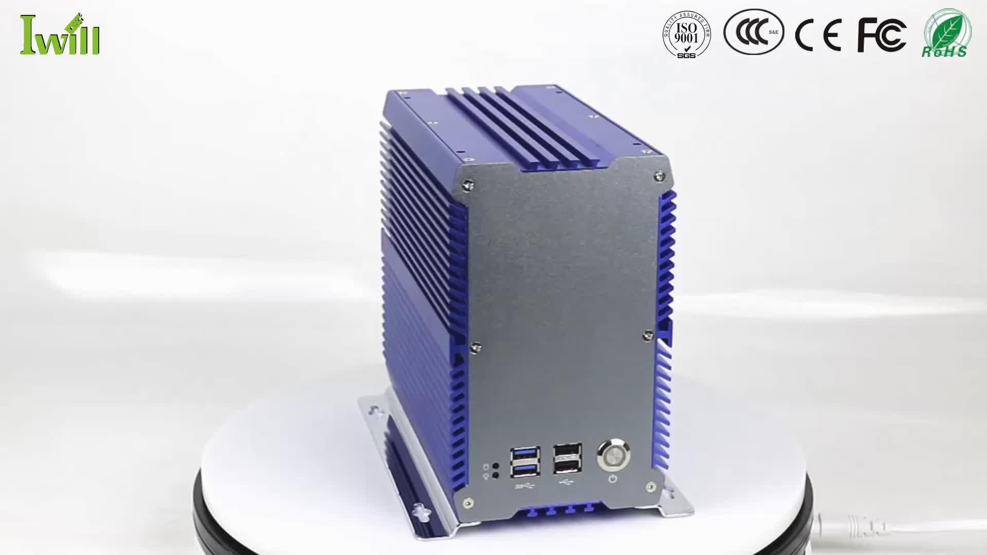 NEW update professional fanless industrial mini pc for 2 LAN embedded PCI slot i5 7200U
