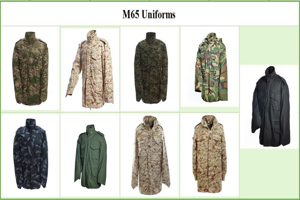 2018 New style m65 jacket military/military m65 jacket in factory price