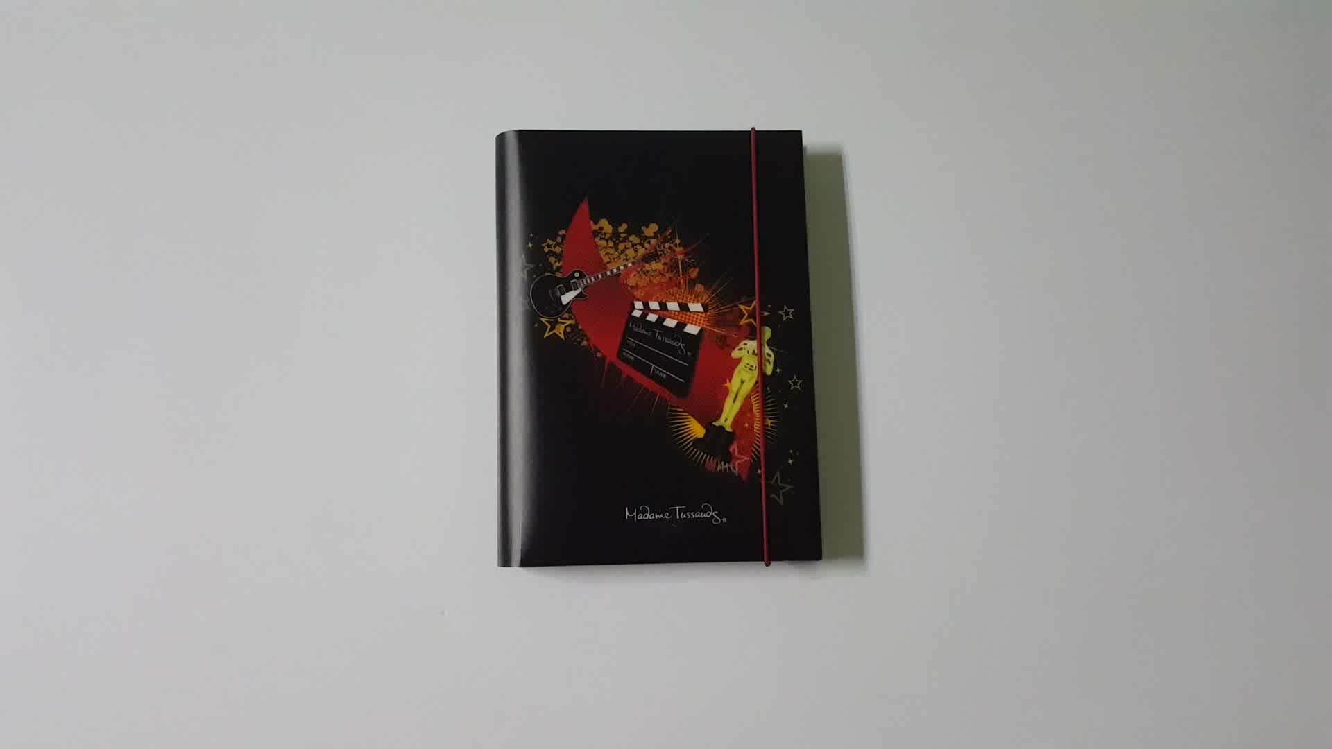 カスタム印刷led光るスパイラル日記パーソナライズノートブック用ギフト