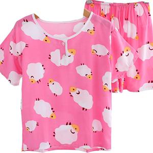 夏季棉绸男童短袖短裤睡衣