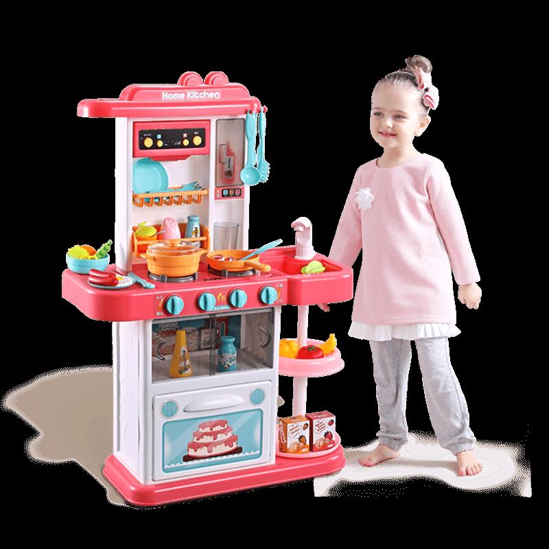 贝恩施儿童厨房玩具过家家套装仿真厨具做饭煮饭男女孩宝宝3-6岁7