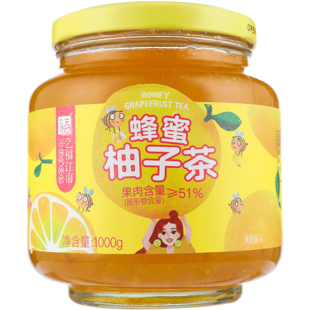 艺福江南蜂蜜柚子茶1Kg+送勺子