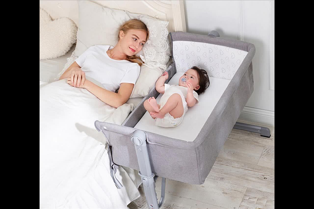 New Born Travel Cot Aluminium Frame Folding Baby Bed Baby