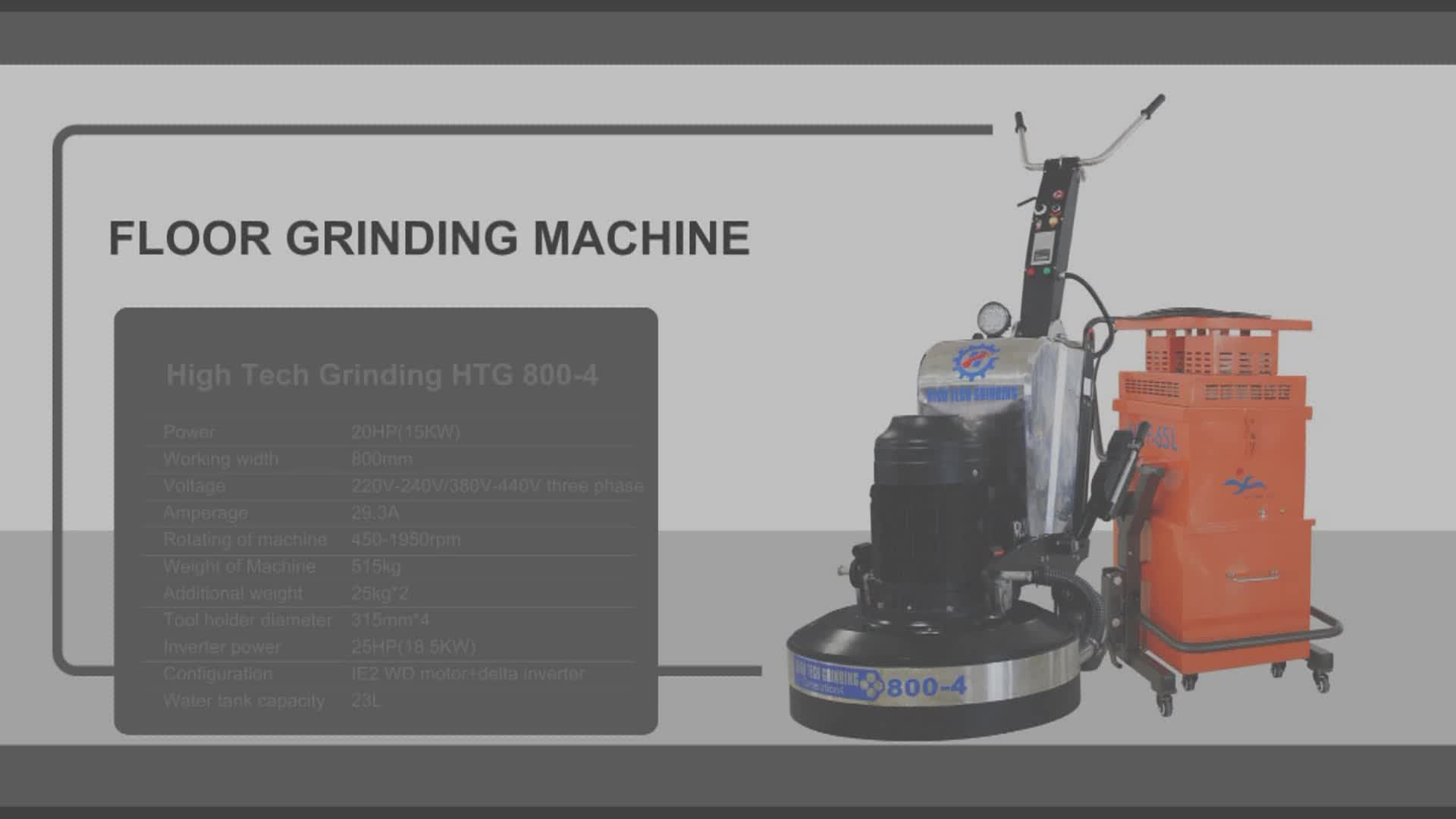 Surface grinding vertical concrete floor polishing machine for Floor grinding machine