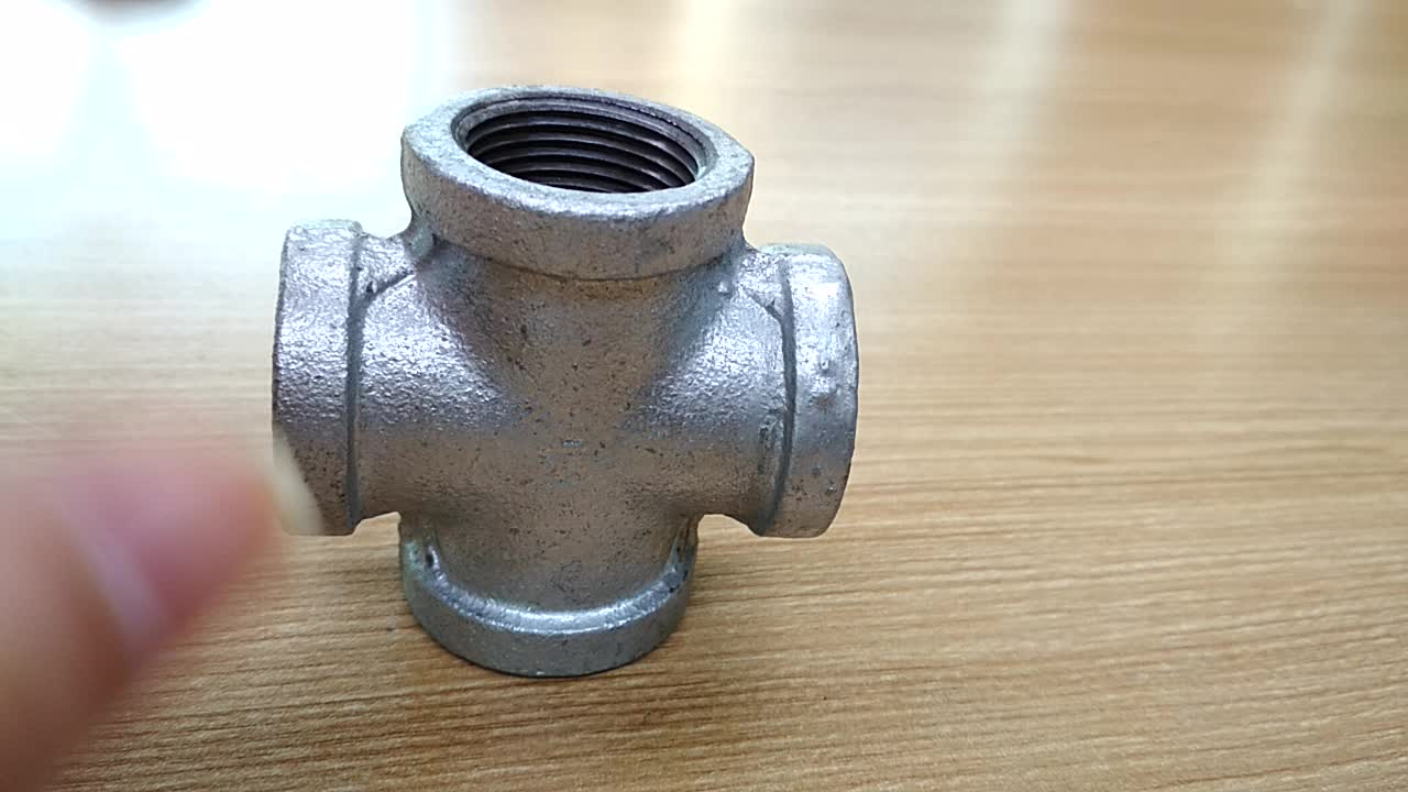 black pipe fittings cross Malleable Iron Pipe Fittings