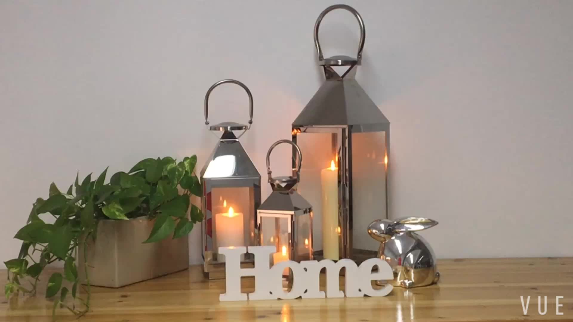 Outdoor popular hurricane and garden decoration stainless steel candle lantern