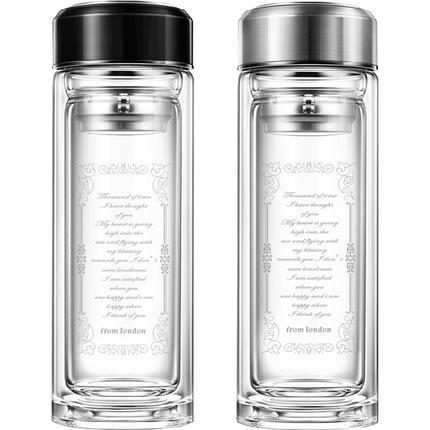 双层透明家用大容量创意玻璃杯