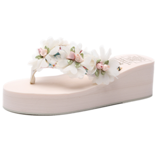 bzbz新款海边花朵女夏外穿沙滩拖鞋