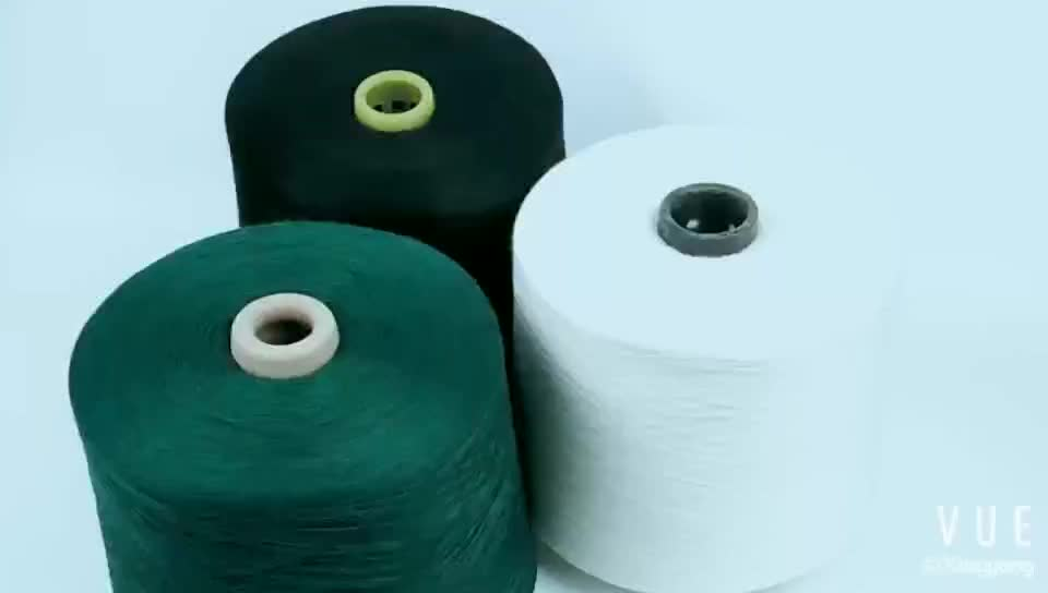 NE16-32S polyester staple fiber knitted dyed yarn with high wear-resistant