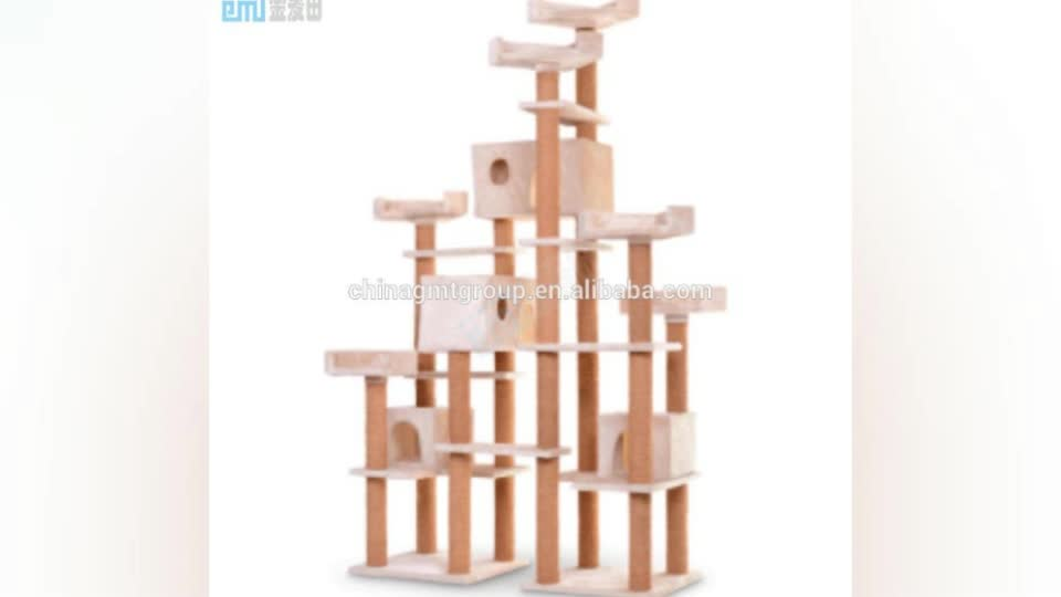75cm Space-saving Solid Wood Style Cat Tree