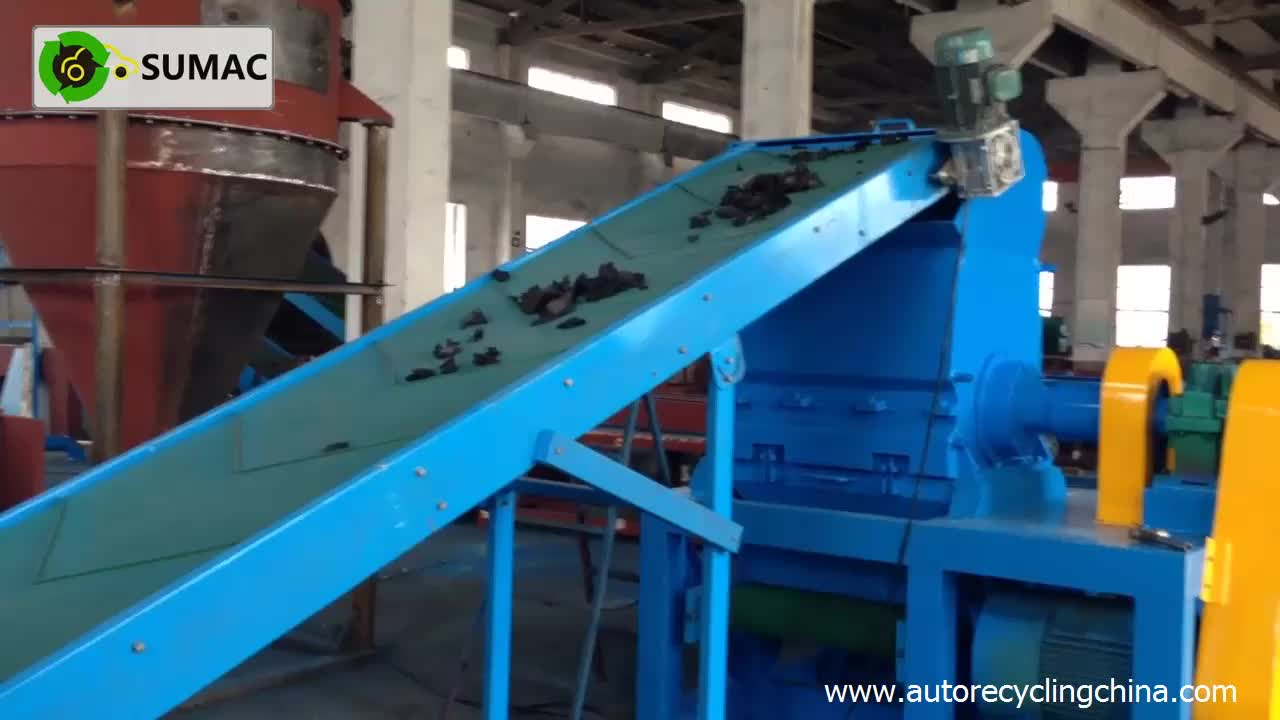 Tire recycling equipment new product high capacity rubber for Tractor tire recycling