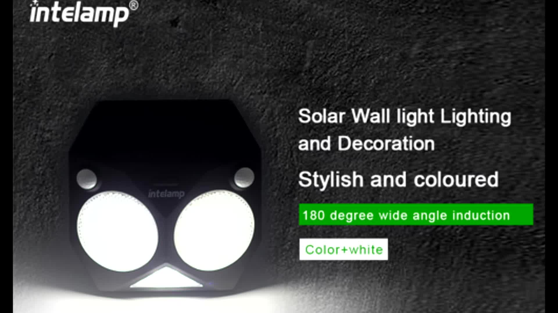 2018 Amazon hot sale electricity energy saving solar LED wall lamp lighting sprinkling in garden