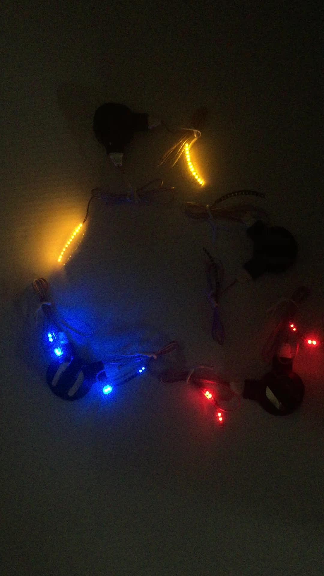 Custom Light Up Materiale Glow in The Dark Ceretta Multicolore Poliestere Lacci Delle Scarpe Led Lacci Delle Scarpe