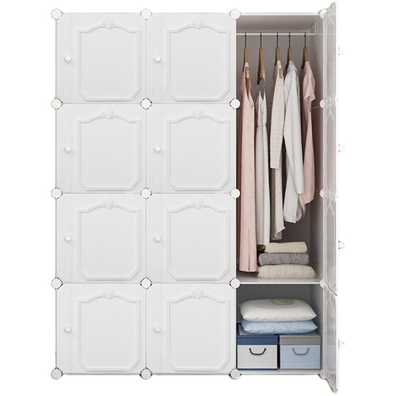 简易现代简约布塑料储物收纳挂衣柜质量如何