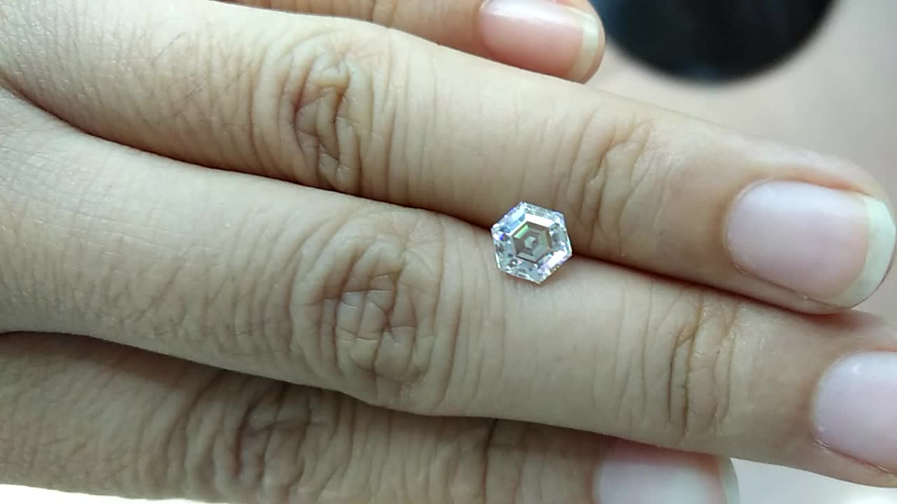 ring ysfxxxxcbaxxxxxxxxxxx hexagon loose moissanite diamond asscher engagement product detail quality top for cut genuine