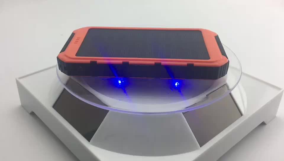 8000mAH Solar Power Bank External Battery Charger with LED Light for Camping Lantern cell phone wallet power bank