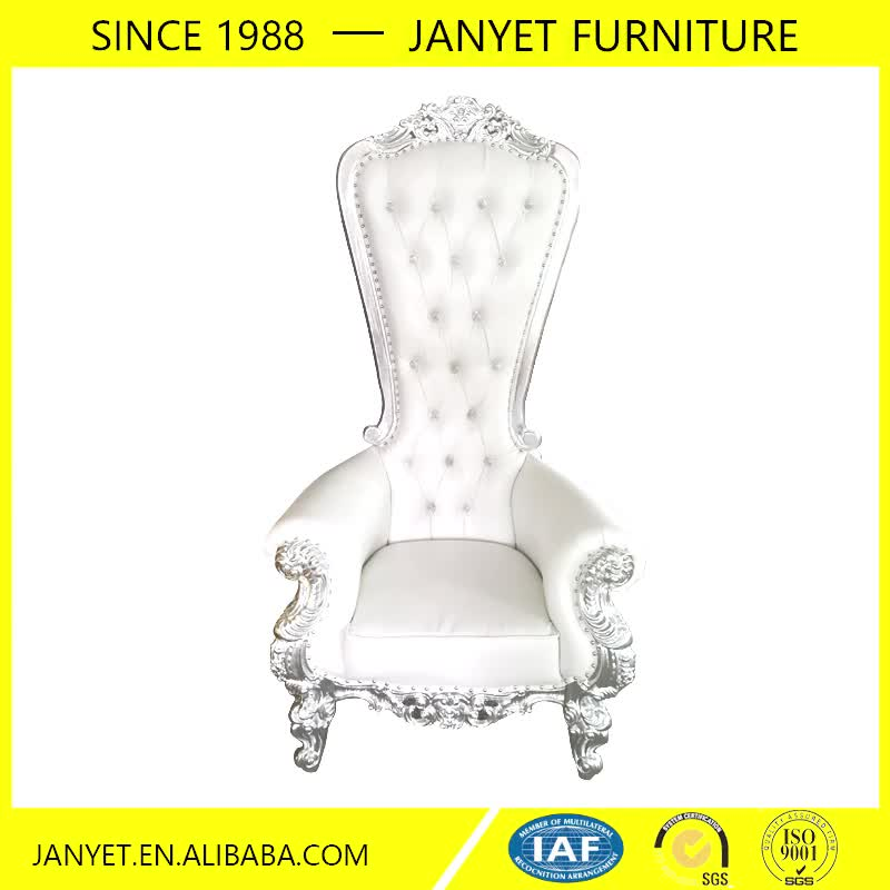 2017 Wholesale white high back king throne chair rental