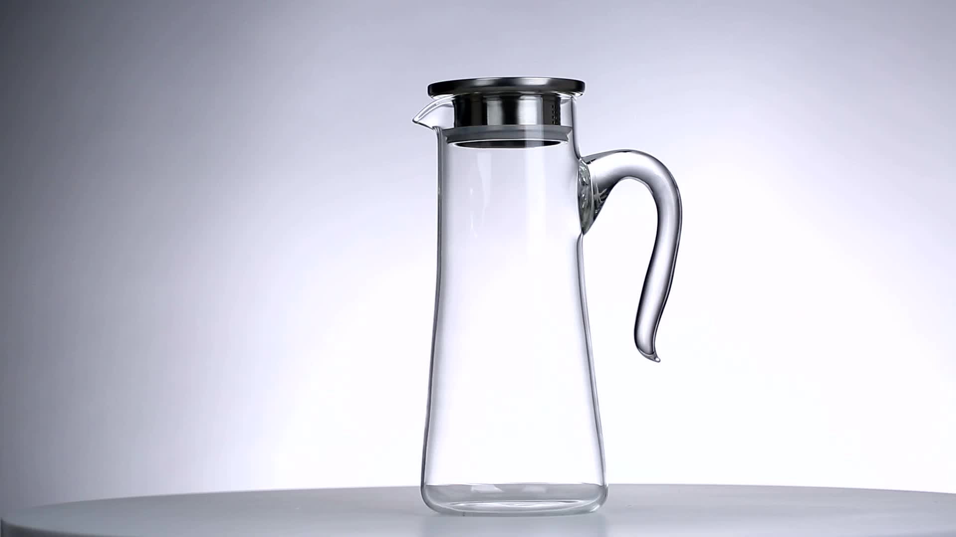 Hot Water Pitcher With Lid Heat Resisting Clear Glass Water Pitcher