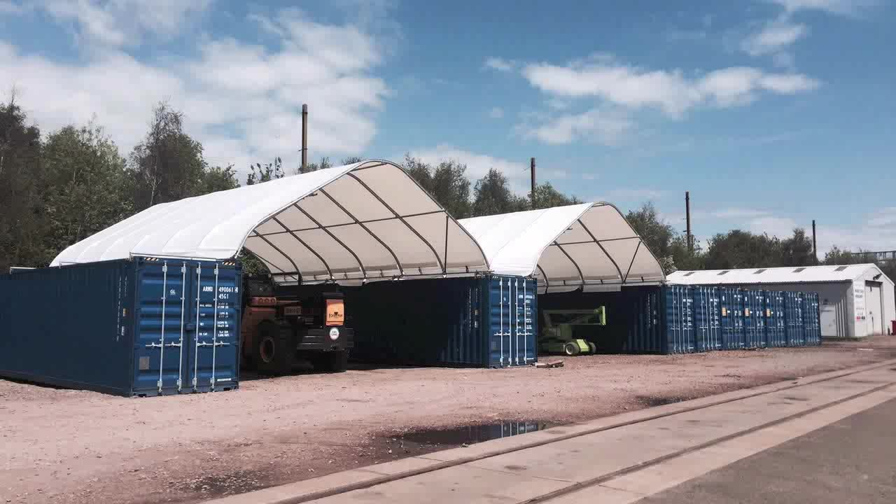 Outdoor Temporary Storage Tent 40 Feet Container Canopy Shelter