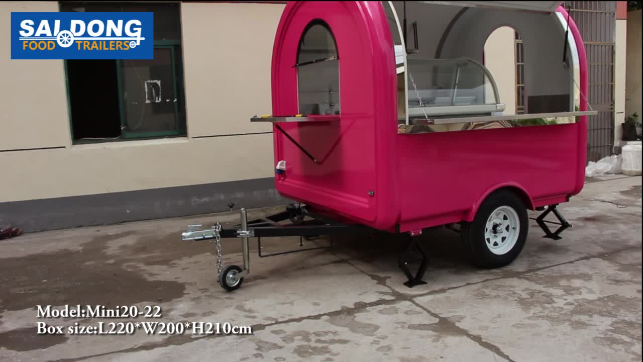 Mobile outdoor food cart trailer/coffee cart for sale