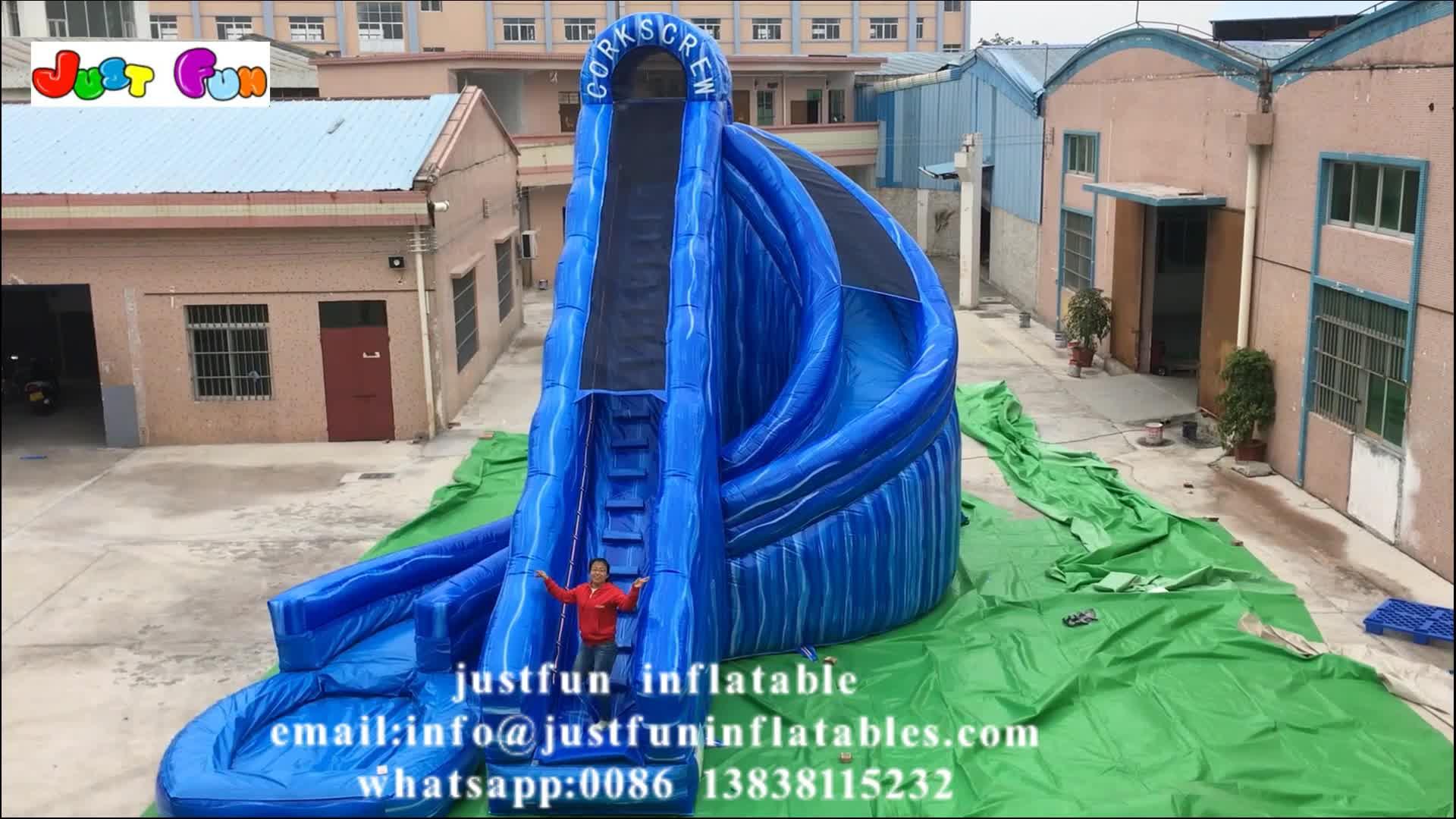 하마 대리석 블루 풍선 물 슬라이드 파티 및 이벤트