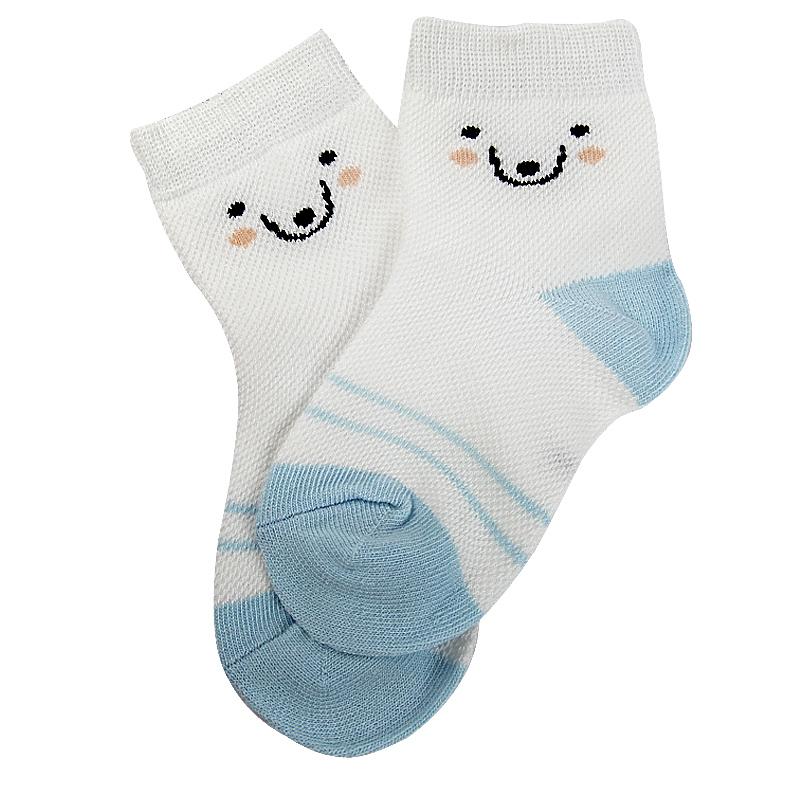 儿童袜子纯棉夏季薄款新网眼婴儿宝宝袜子男孩女童中大童短袜船袜