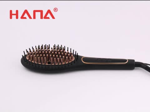 HANA PTC heater NTC control hair brush straightener electric