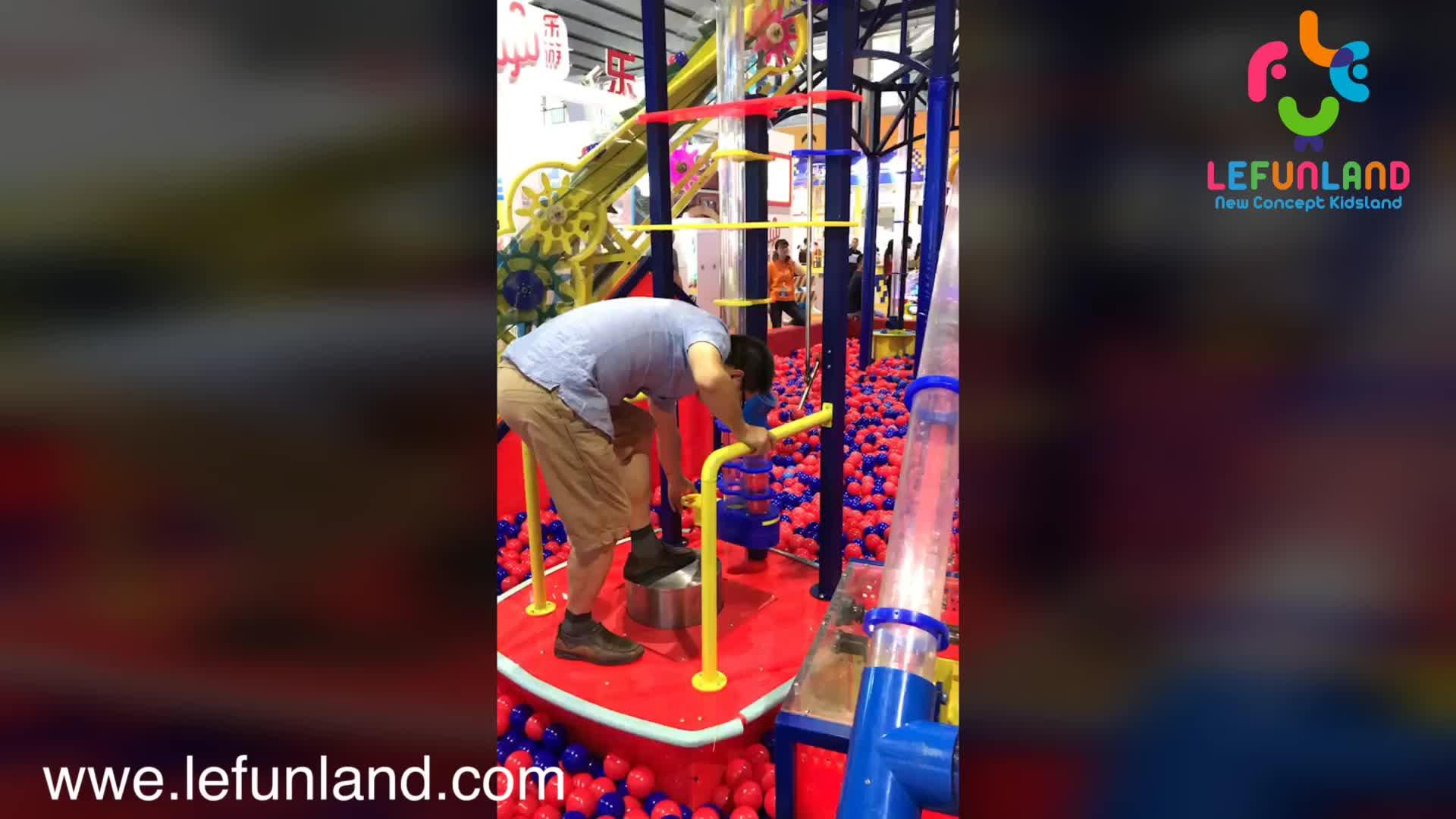 Lefunland énorme boule machine très amusant avec grande piscine à balles enfants d'intérieur playyground équipement