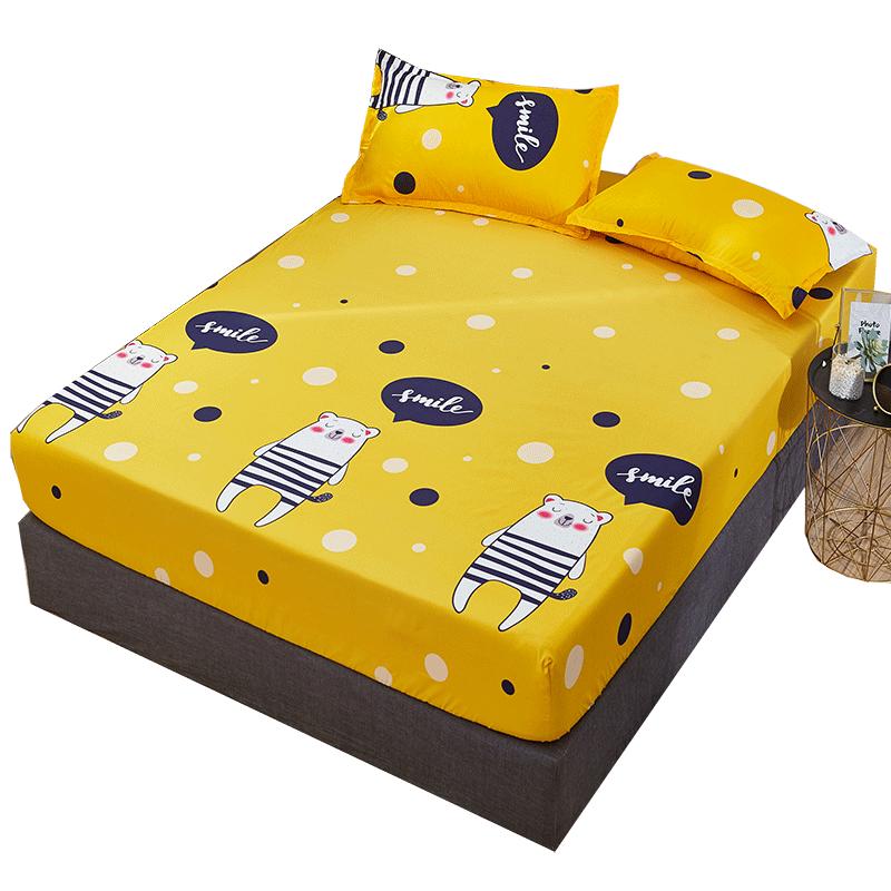 床笠单件防滑固定床罩床套1.8m1.5米席梦思床垫防尘保护床单全包