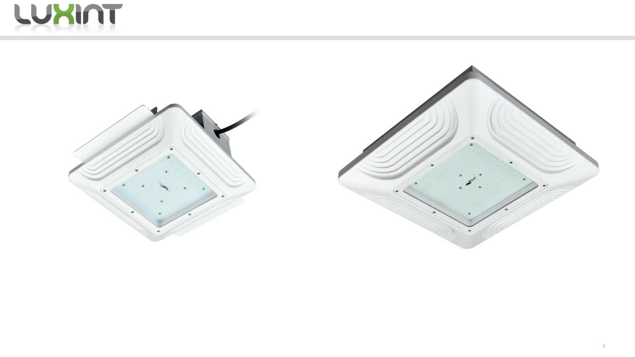 LUXINT Good quality and unique 120 degree 200w led gas station canopy light