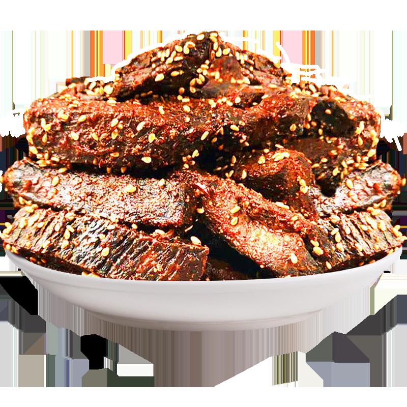 【第二件1元】牛肉干内蒙古手撕炭烤麻辣零食小吃休闲食品100克吃