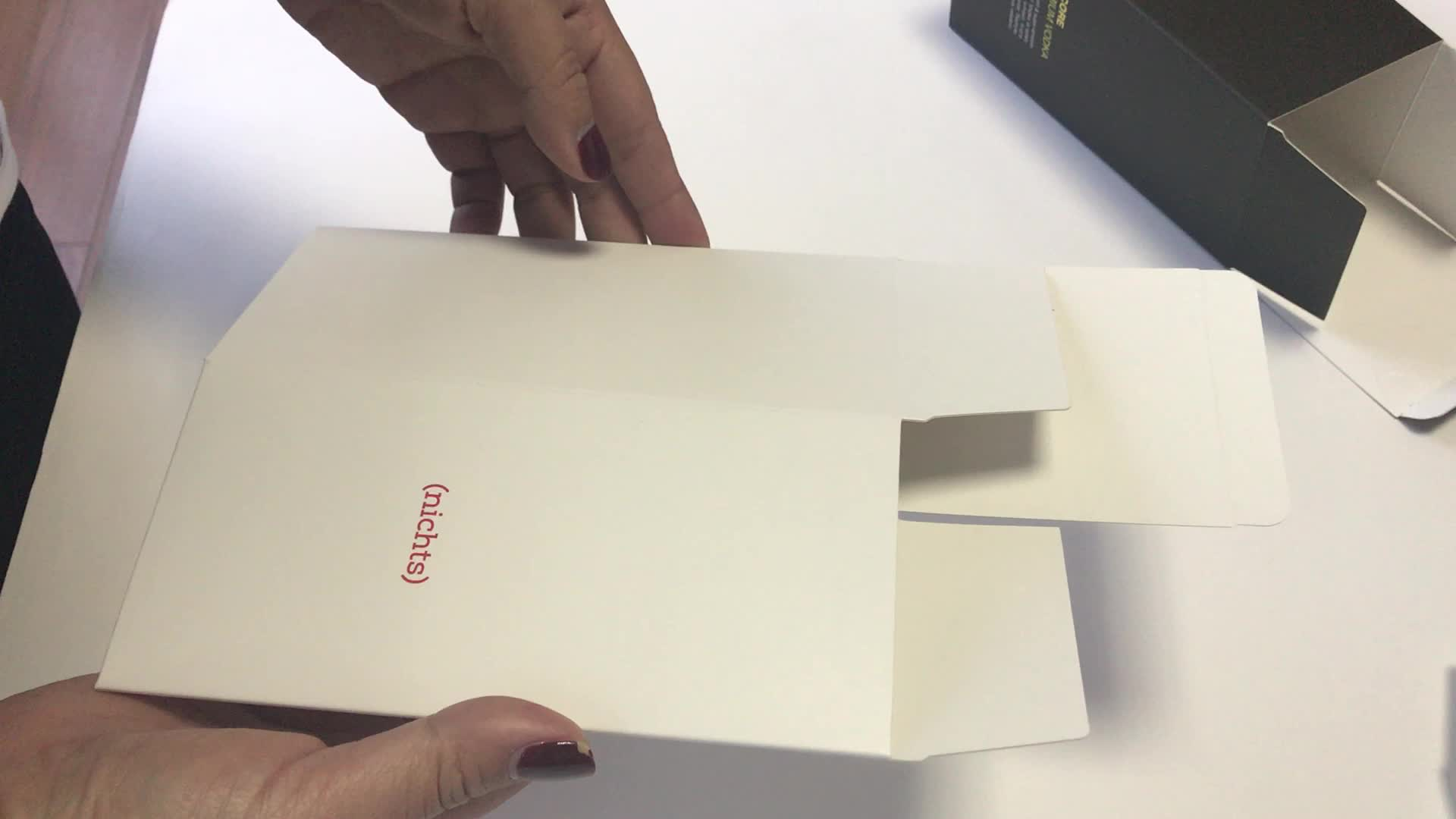 Agent customized full color rigid cardboard packaging paper box for Germany company