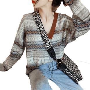 毛衣针织衫短款2019新款秋季开衫外套女慵懒风很仙的初秋装毛线衣